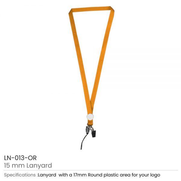 Lanyards with Epoxy Logo Orange