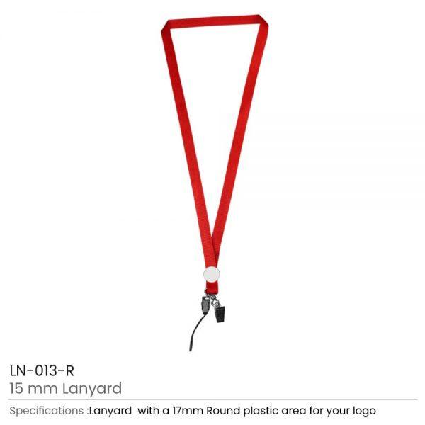 Lanyards with Epoxy Logo Red