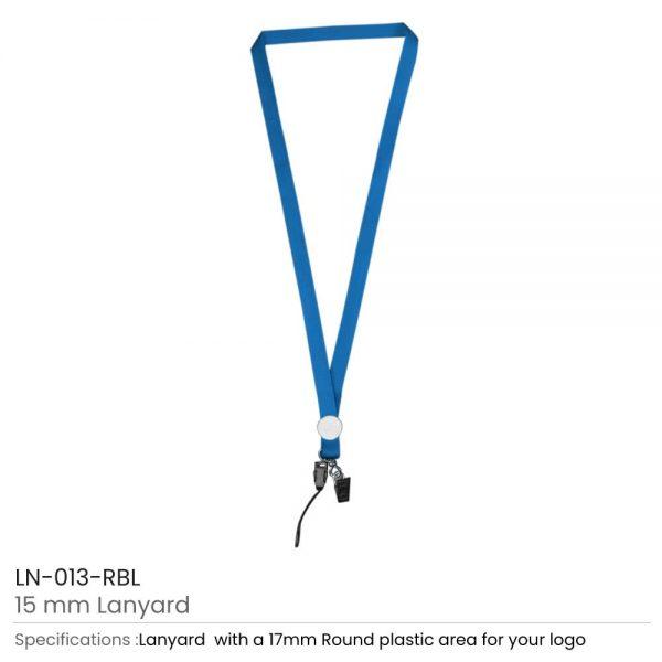Lanyards with Epoxy Logo Royal Blue