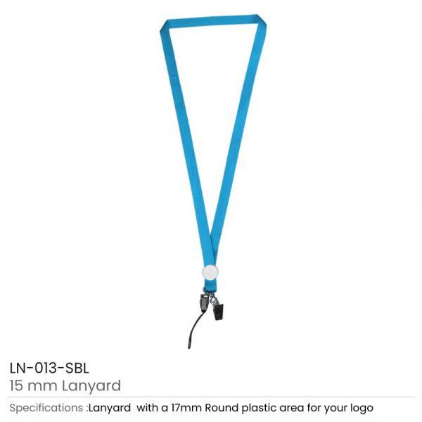 Lanyards with Epoxy Logo Sky Blue