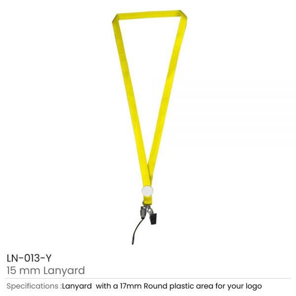 Lanyards with Epoxy Logo Yellow