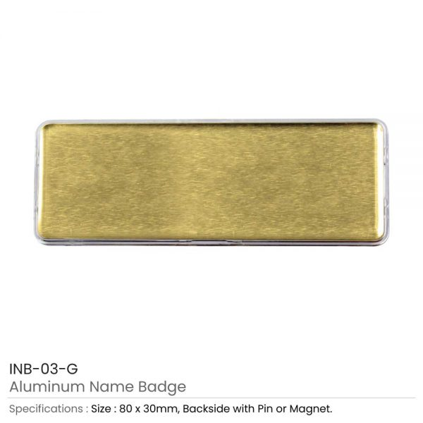 Lens Cover Name Badges Gold