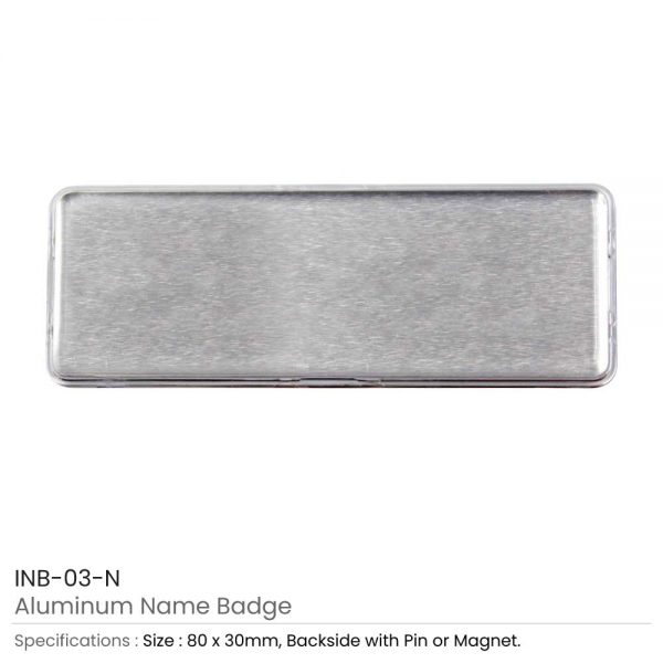 Lens Cover Name Badges Silver