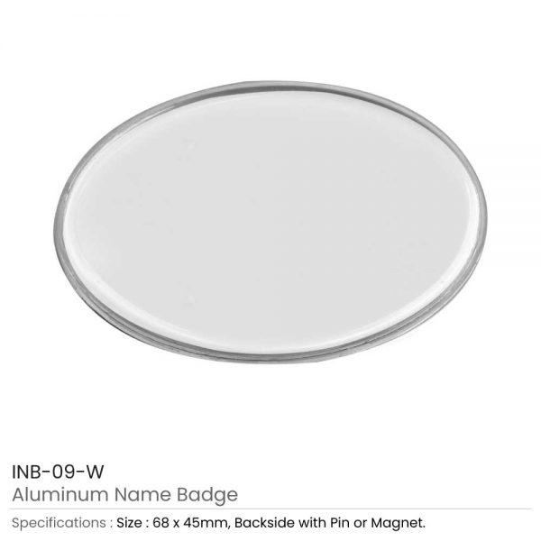 Lens Cover Name Badges White