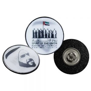 National Day Badges with Sheikh Zayed Picture