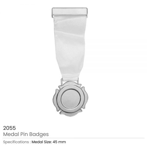 Medal Pin Badges Silver