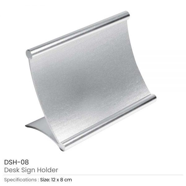 Metal Desk Sign Holders