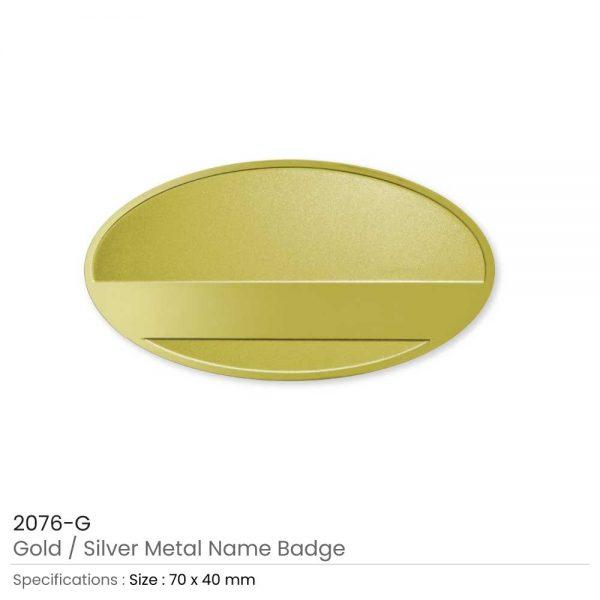Metal Name Badges Gold