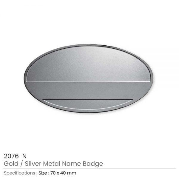 Metal Name Badges Silver