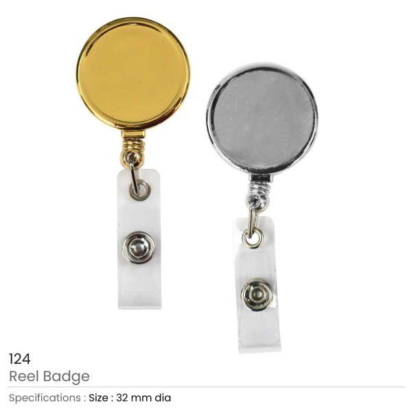Round Reel Badge Metal