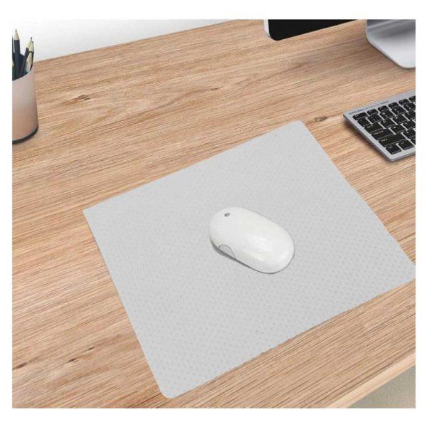 Non Slip White Fabric Mousepads