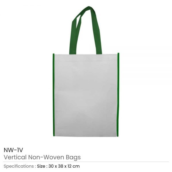 Non Woven Bags Green and White
