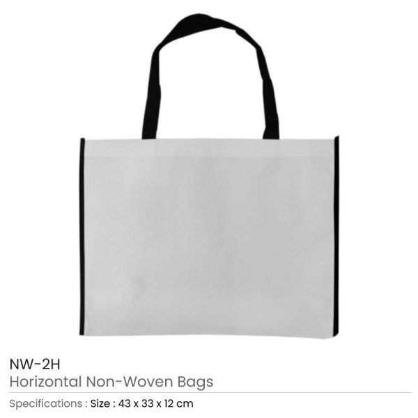 Non-woven Bags White and Black