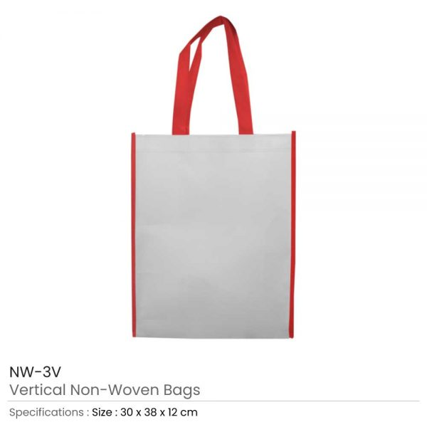 Non Woven Bags Red and White