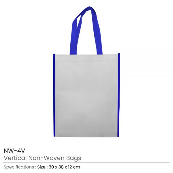 Non Woven Bags Blue and White