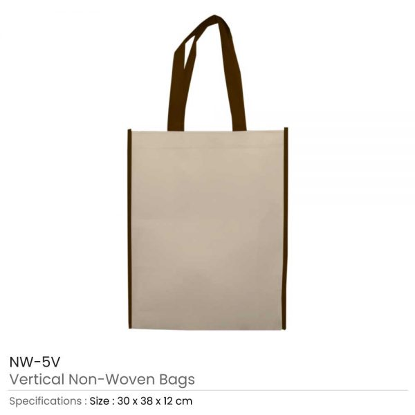 Non Woven Bags Brown and Beige