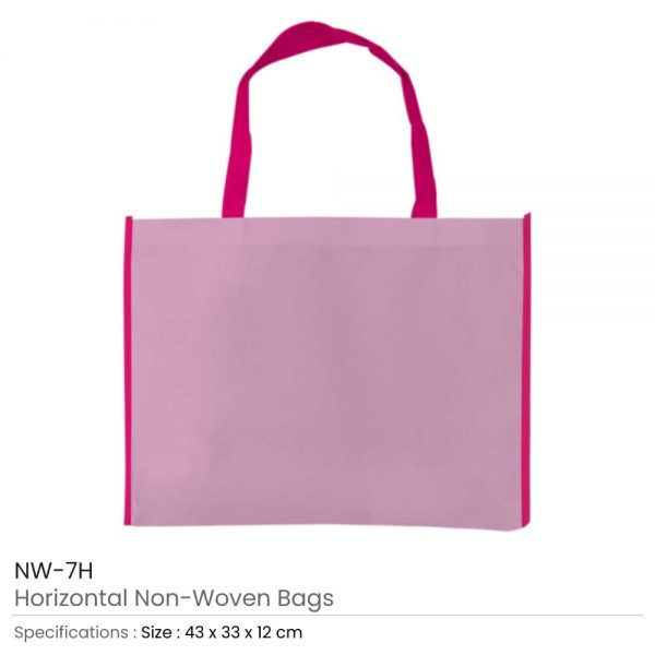 Non-woven Bags Pink and Dark Pink