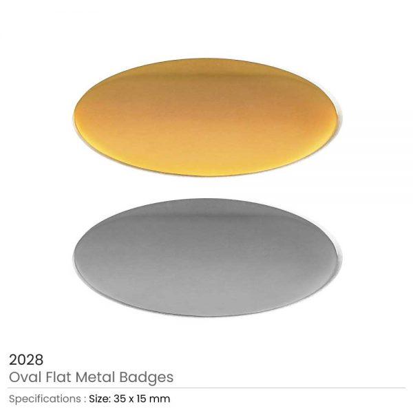 Oval Shape Flat Logo Badges