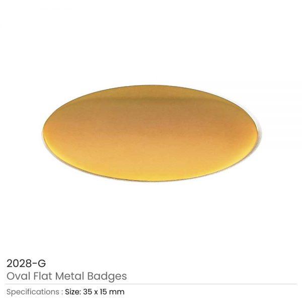 Gold Oval Shape Flat Logo Badges