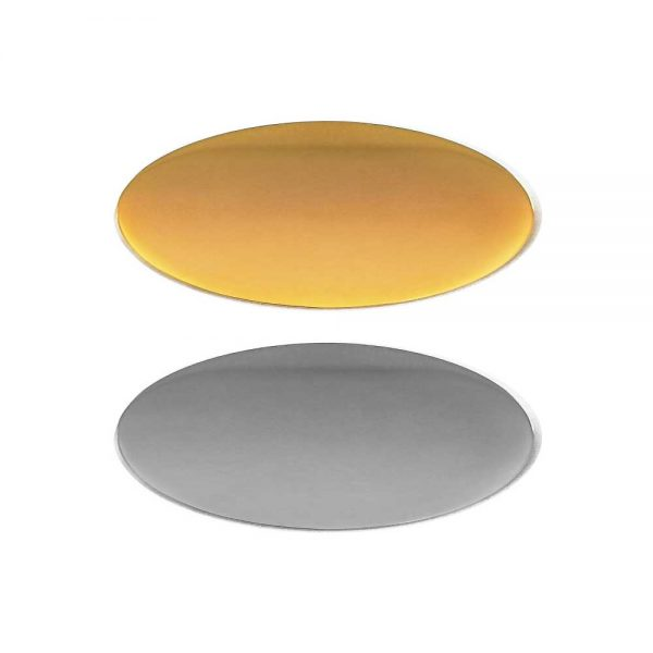 Oval Flat Logo Badges