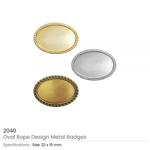 Oval Badges