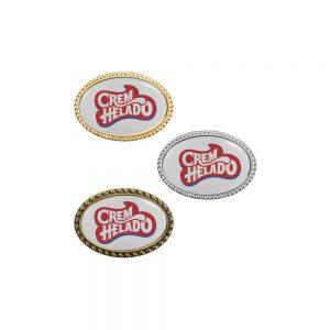Oval Badges Printed