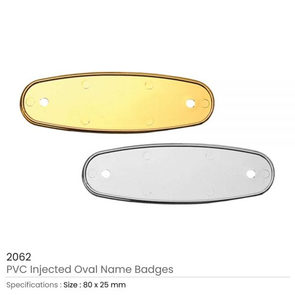 PVC Injected Name Badges