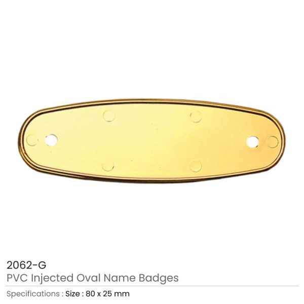 PVC Injected Name Badges Gold