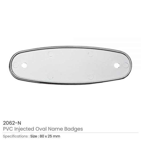 PVC Injected Name Badges Silver