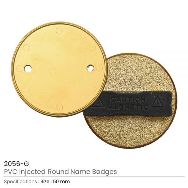 PVC Injected Round Logo Badges