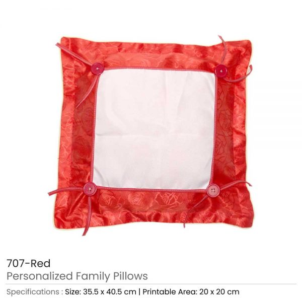 Personalized Pillow Red
