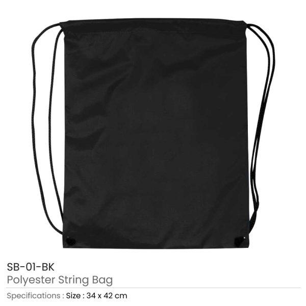 Promotional String Bags SB-01-BK