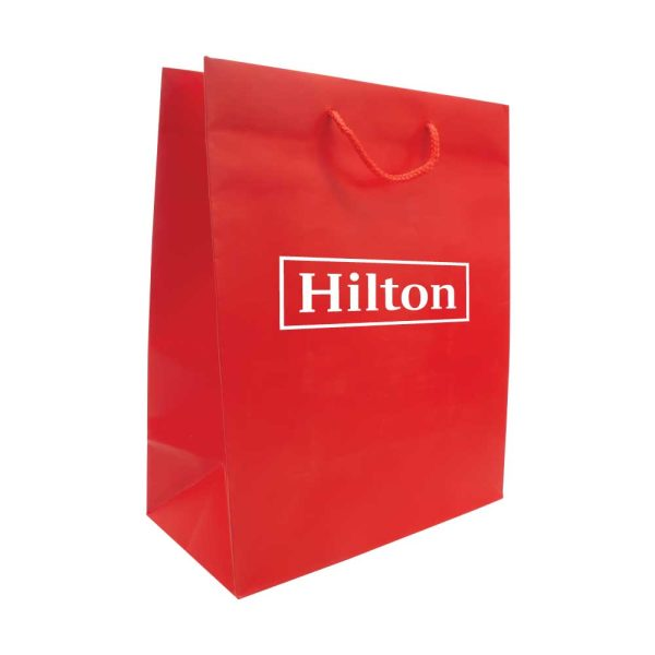 Branding Paper Shopping Bag Vertical A3 Size - Red