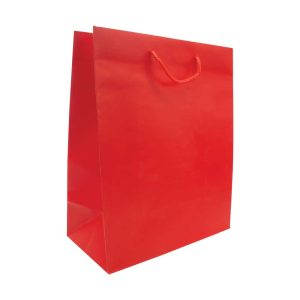 Paper Shopping Bag Vertical A3 Size - Red