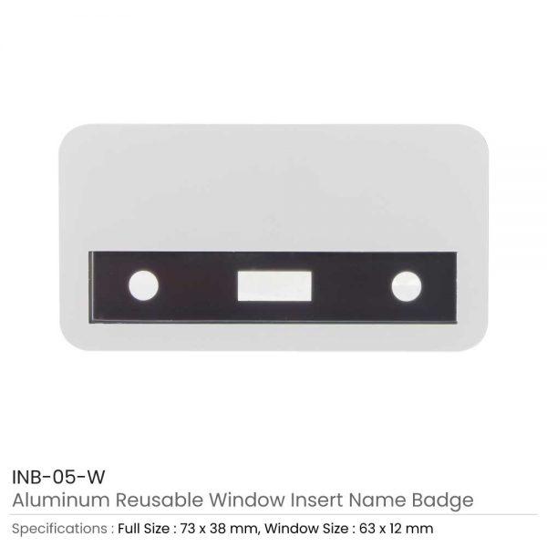 Reusable Insert Name Badges White