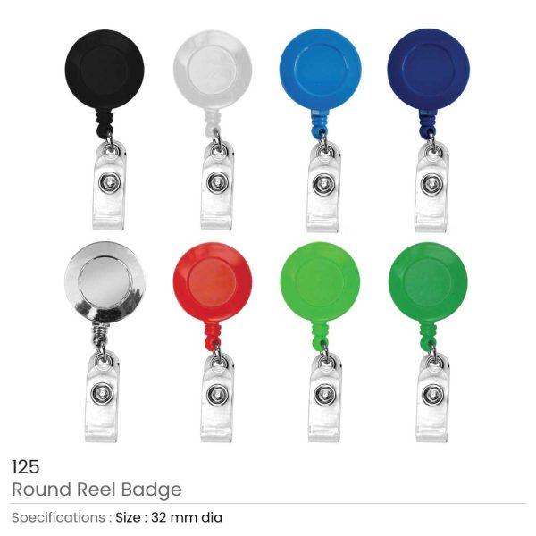 Reel Badges with Belt Clip