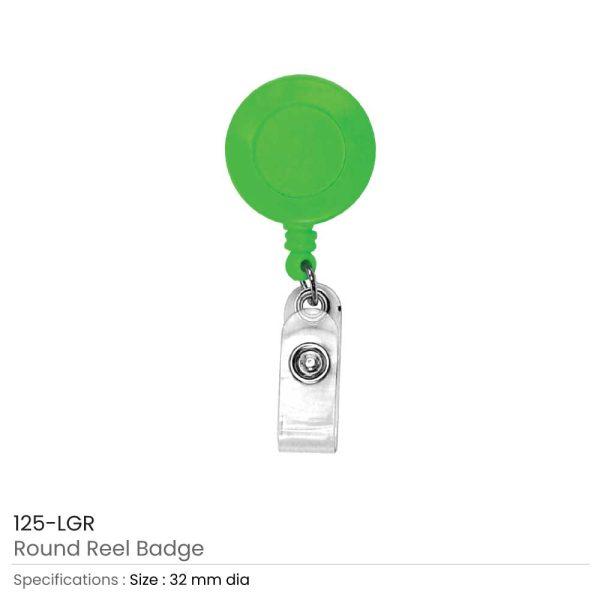 Light Green Reel Badges