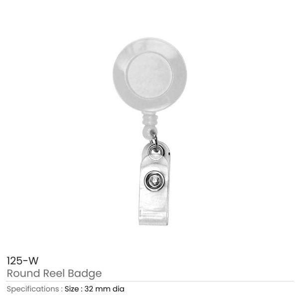 White Reel Badges