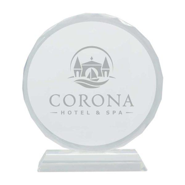Branding Round Crystal
