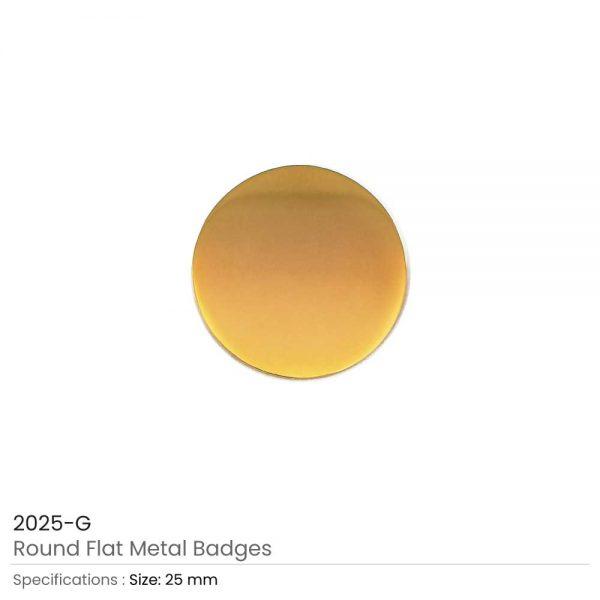 Round Shape Flat Logo Badges Gold