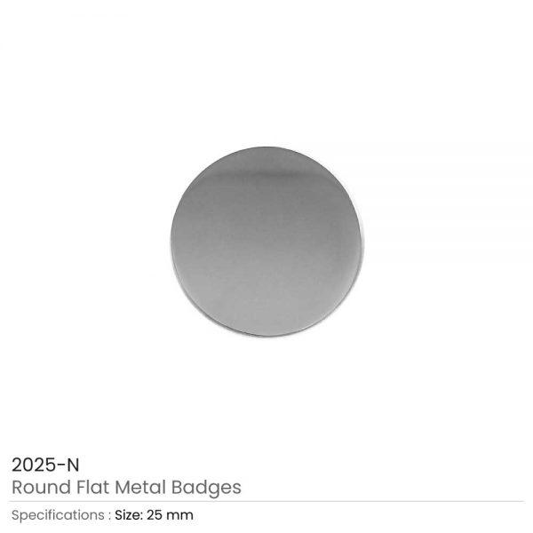 Round Shape Flat Logo Badges Silver