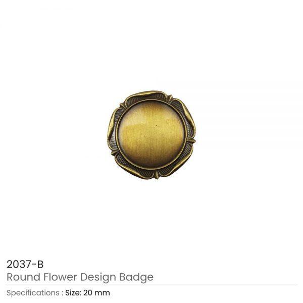 Round Logo-Badges Brown