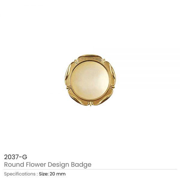 Round Logo-Badges Gold