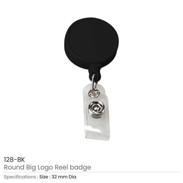 Round Logo Reel Badge Black