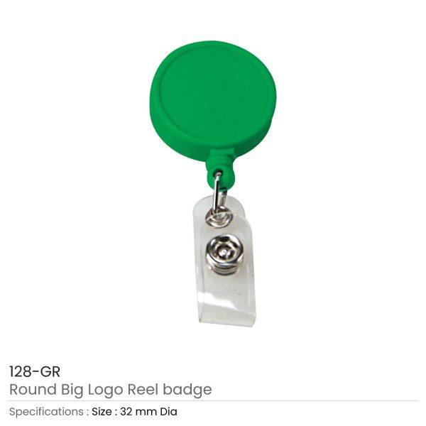 Round Logo Reel Badge Green