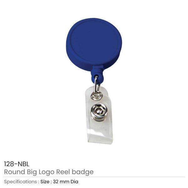 Round Logo Reel Badge Navy Blue