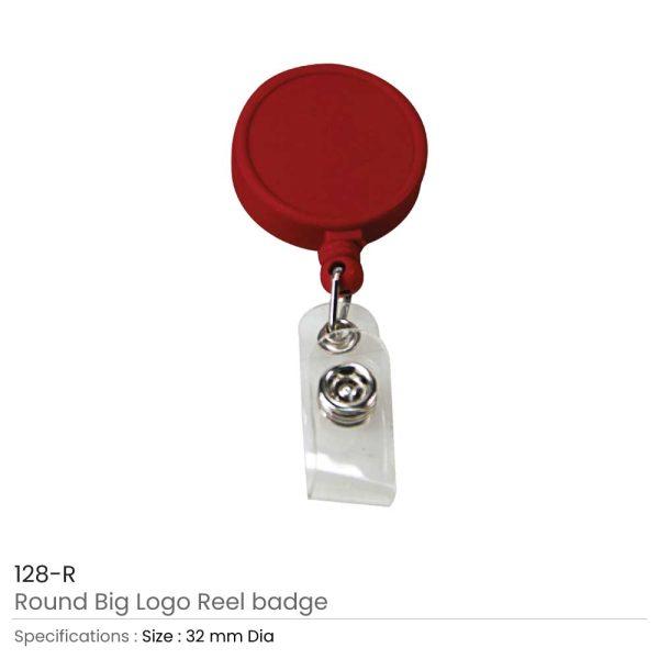 Round Logo Reel Badge Red