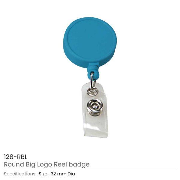 Round Logo Reel Badge Royal Blue