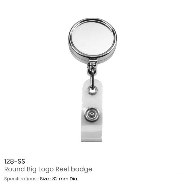 Badge Reels in Silver Mirror Shiny