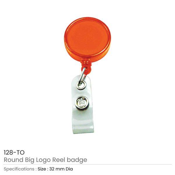 Reel Badges Transparent Orange